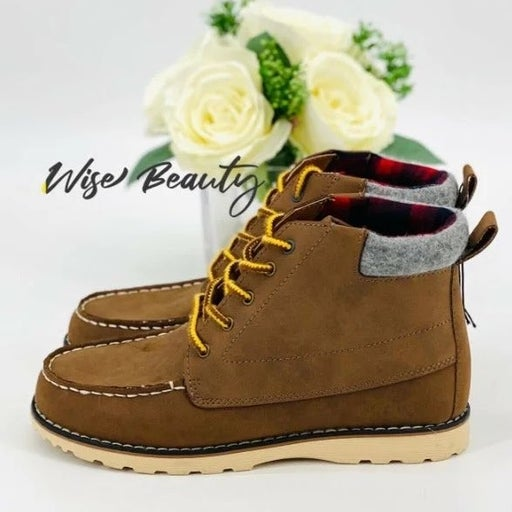 NEW Boys Ackerley Fashion Boots Size 13 Shoe Brown Casual High Top Cat & Jack