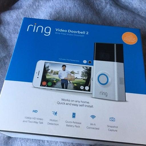 New Ring Video Doorbell 2 Satin Nickel