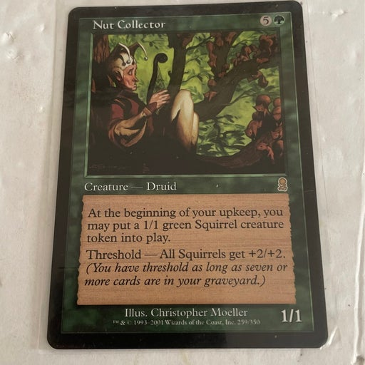 Nut Collector Casting Cost: 5g Card Type: Creature - Human Druid Power / Toughne