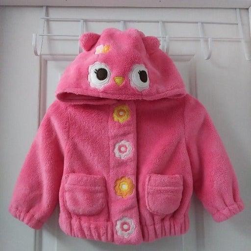 Gymboree Infant Girl Owl Fleece Jacket S