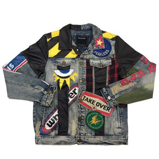 "Men's ""Crazed Denim"" Jean jackets. Size XL."