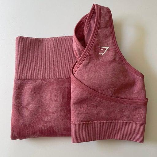 Gymshark pink camo set