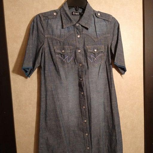Cruel Small denim shirt dress