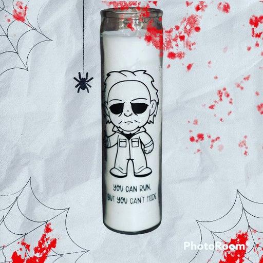 "Michael Myers Halloween Pillar 8"" Candle"