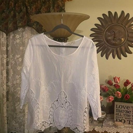 Cynthia rowley cotton blouse XL