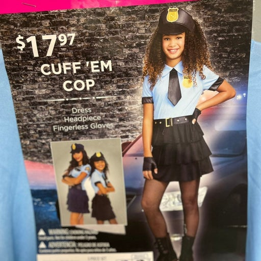 BRAND NEW GIRL POLICE CUSTOME SIZE XL 14-16