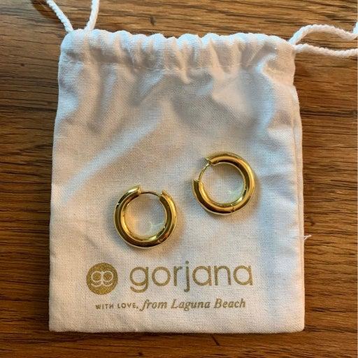 Gorjana Thick Gold Hoop Earrings