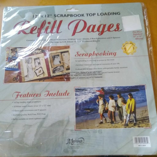 Scrapbooking Lot with Refill Pages