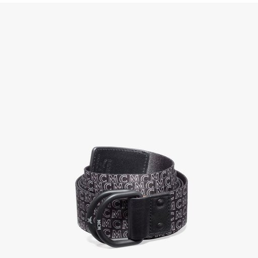 Black long mcm belt