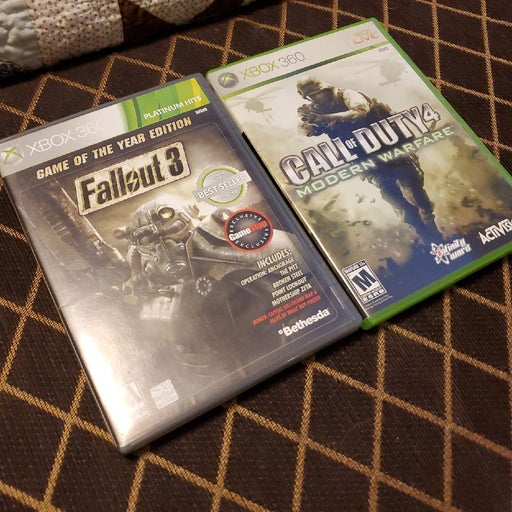 Fallout 3 & Call of Duty 4 XBOX 360