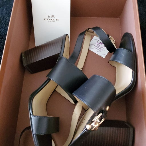 Coach wrapped heels