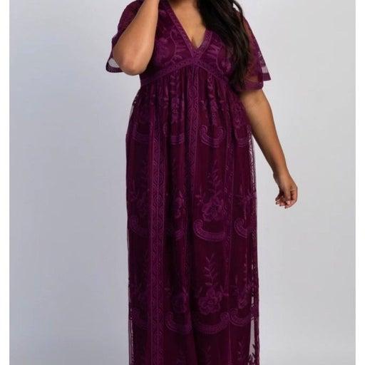 PinkBlush Maternity Plus Lace Dress