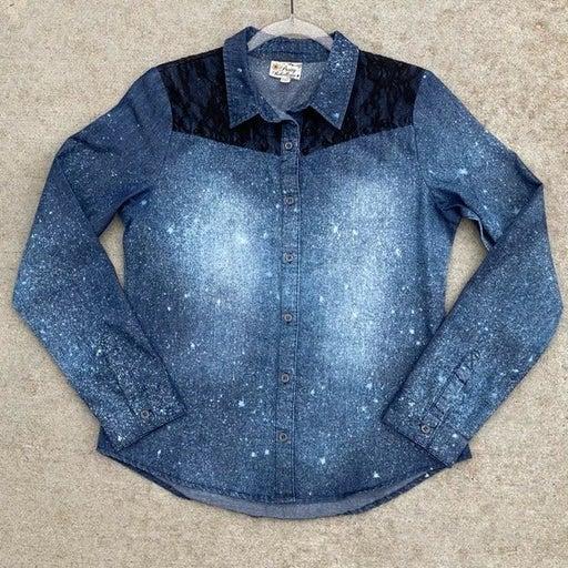 Custom Bleached Chambray Western Shirt