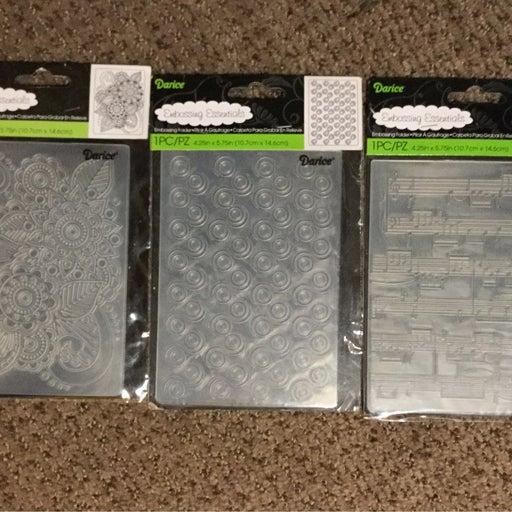 3 Darice Embossing Folder Stencil Sets
