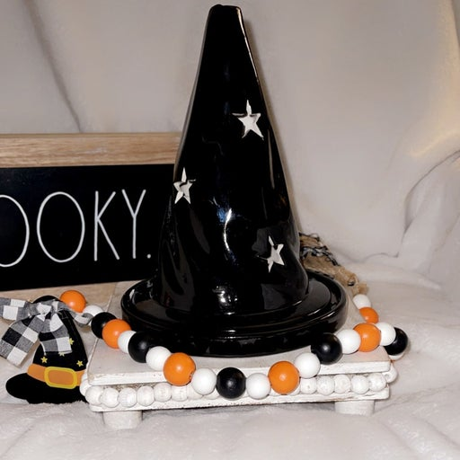 Halloween witches/wizard hat with stars.