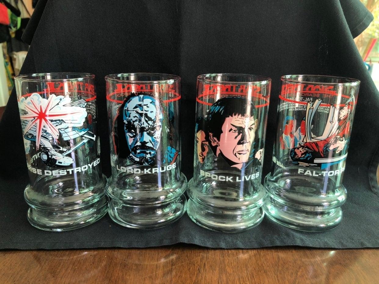 Vntg Star Trek Taco Bell Glasses