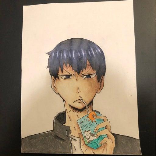 Kageyama Tobio Haikyuu full color drawing