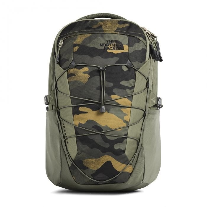 The North Face camo backpack