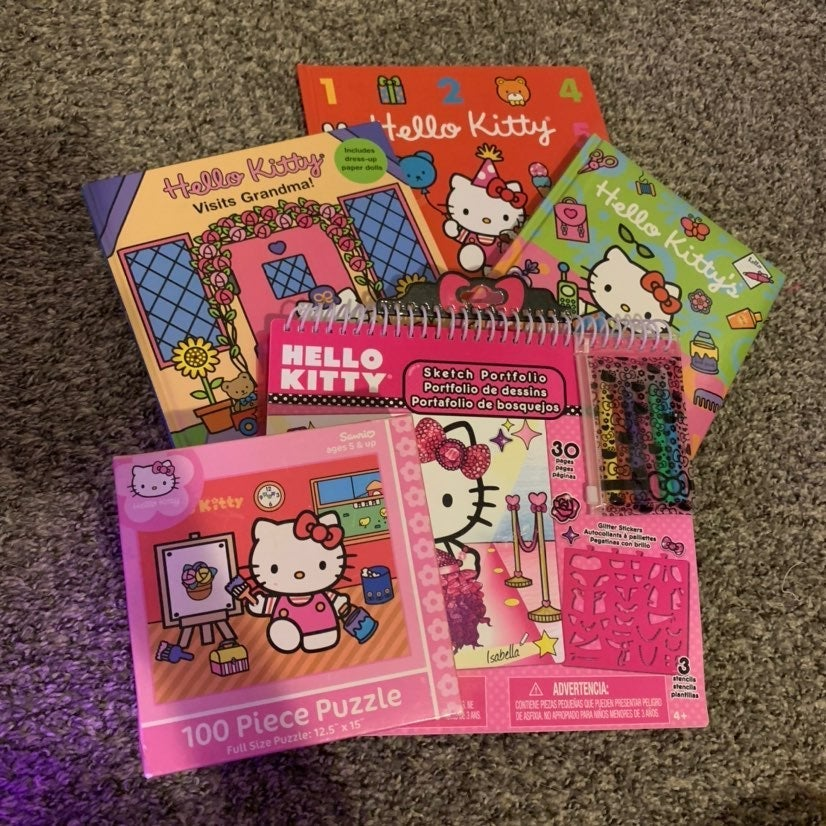 Hello Kitty Book Puzzle Lot Bundle
