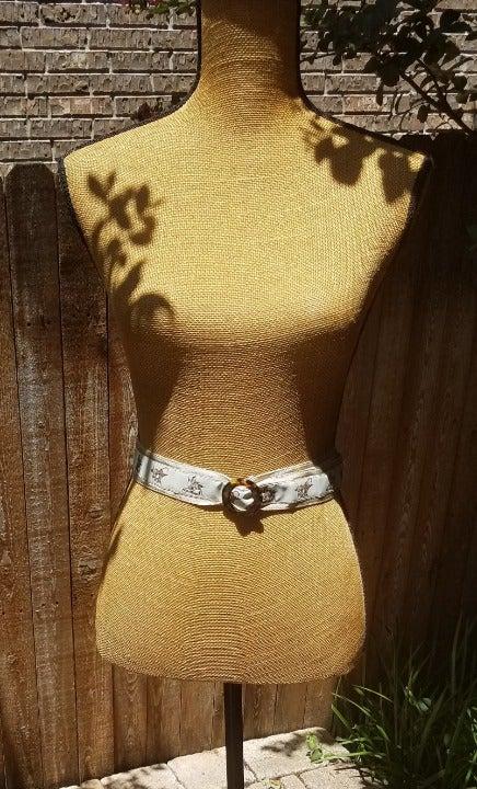 Talbots Beige/Brown Fabric  Belt