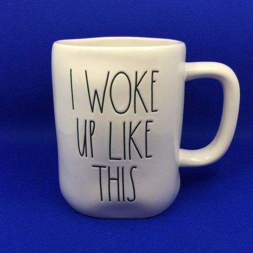 Rae Dunn Green woke up like this Mug