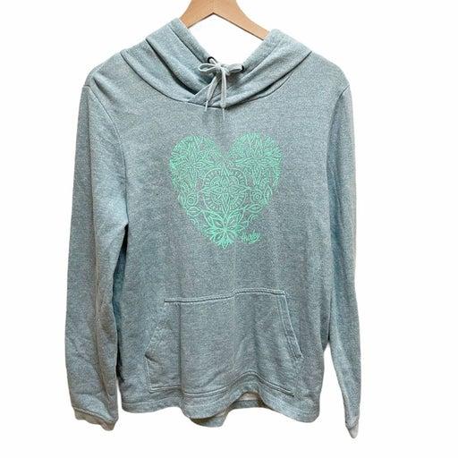 Hurley light blue heathered hoodie M