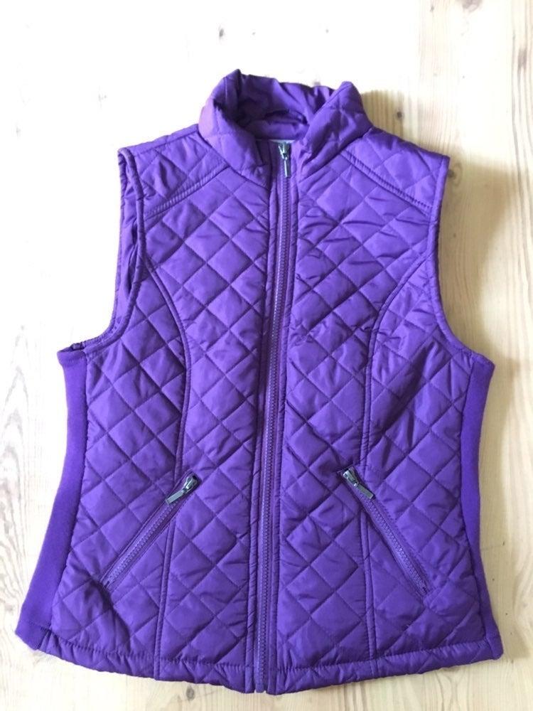 Purple Laura Scott Quilted/Puffer Vest