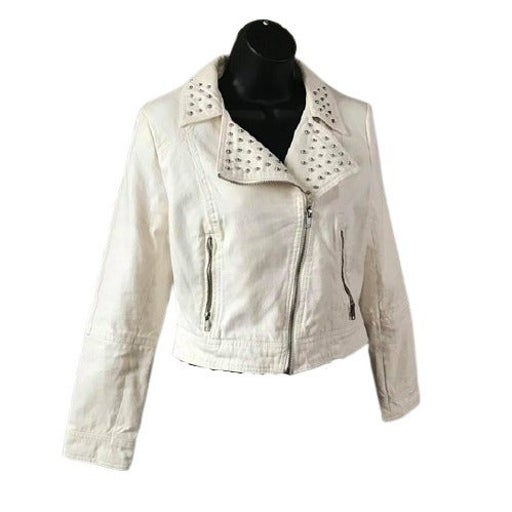 H&M Women's S White Denim Jacket