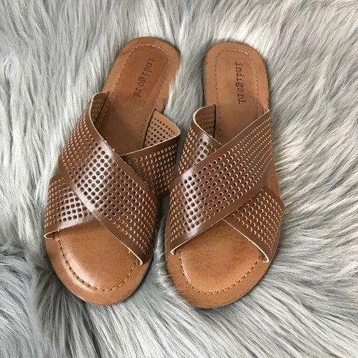 NIB Indigo Bevrlie Slip On Flat Sandal 6
