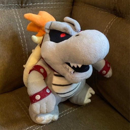 Super Mario Bros Dry Bones Bowser Gray Plush