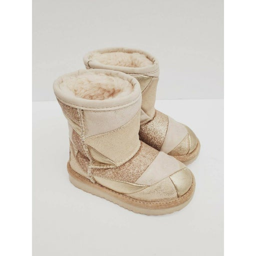 UGG toddler Girl Classic II Boots Booties Silver Shimmer Size 7