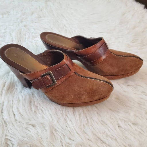 Cole Haan Sz 8 Brown Leather Mules
