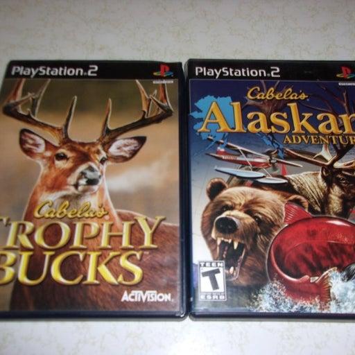 Cabela's Alaskan Adventures & Trophy Bucks (Sony PlayStation 2, 2006) Complete