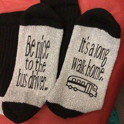 Bus driver mens thermal socks