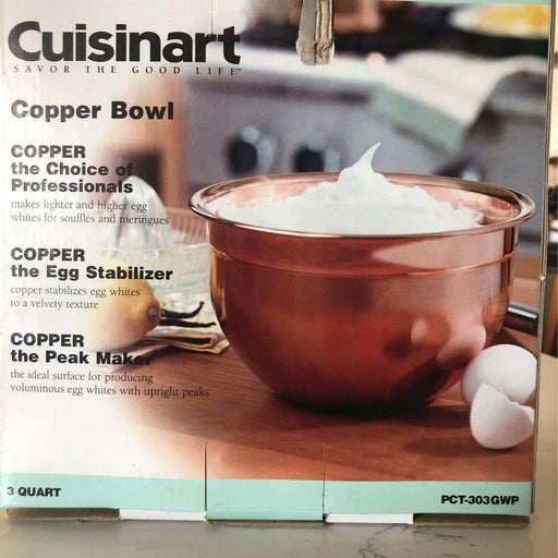 Cuisinart copper mixing bowl