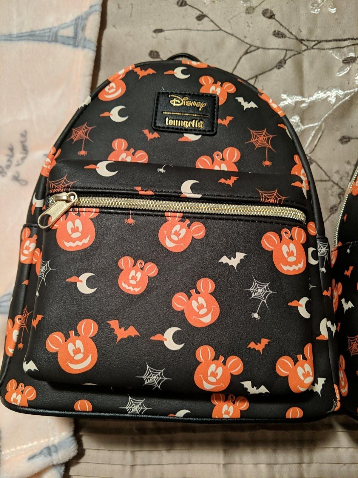 Loungefly Pumpkin Mickey Backpack NWT