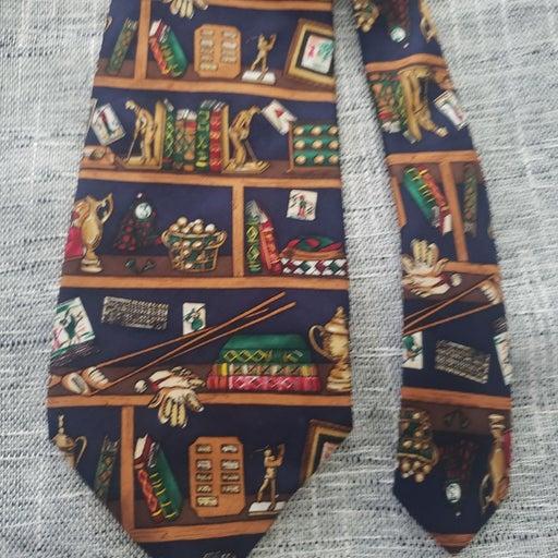 Alynn neck tie gold tie golfing tie