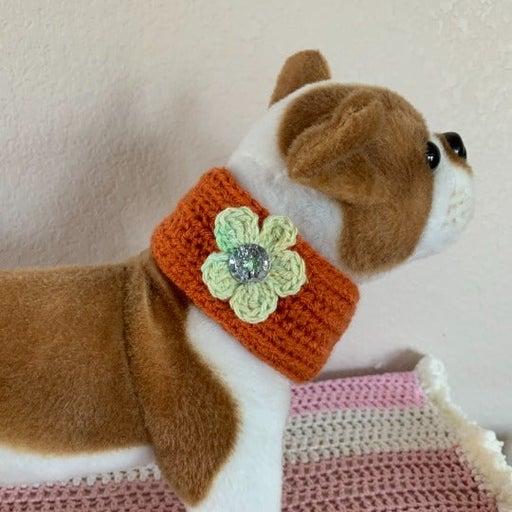 Hand Made Pet Collar Dog Cat Crochet