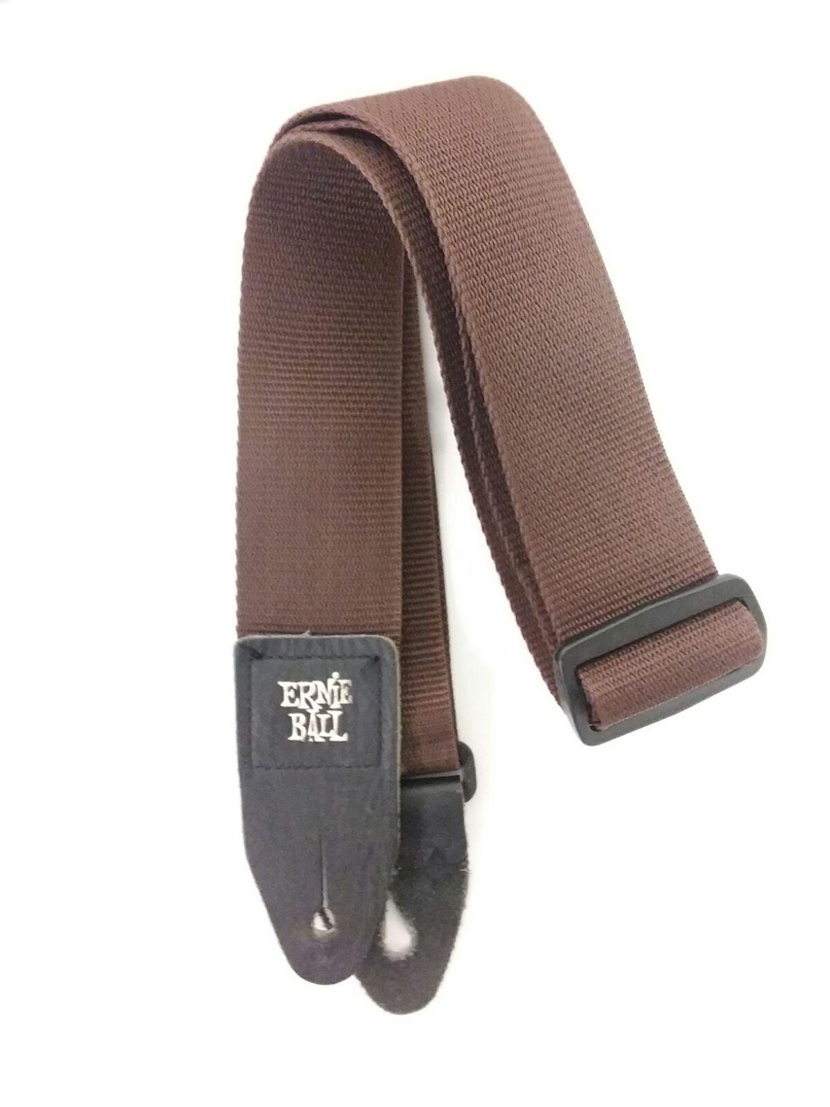 Ernie Ball brown electric guitar strap