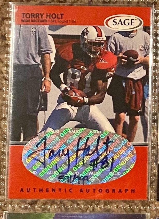Sage 1999 Torry Holt RC Autograph