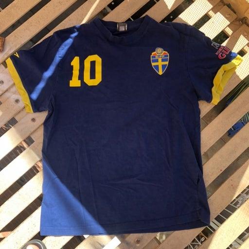 SVFF Sweden Swedish Football Official Umbro Soccer Jersey Shirt Vtg #10 2012 S