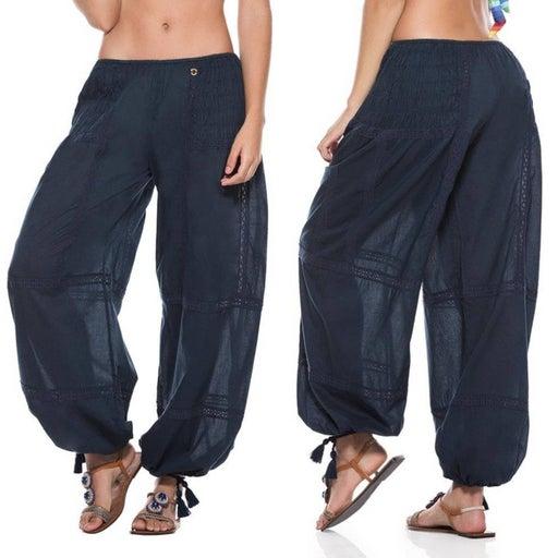 OndadeMar Navy Blue Swim Cover-up Pants