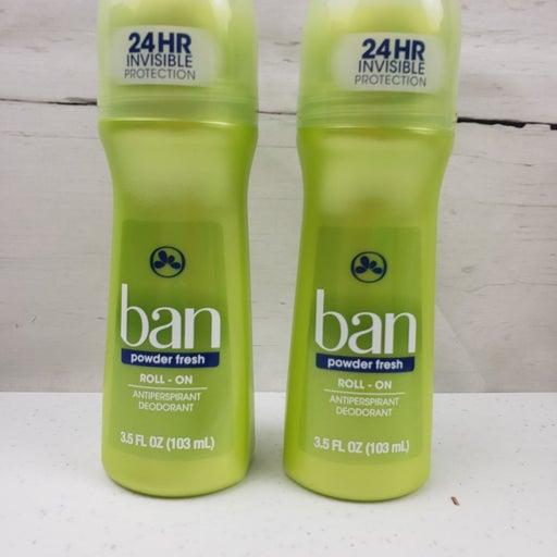 2x Ban Powder Fresh Roll-on Deodorant