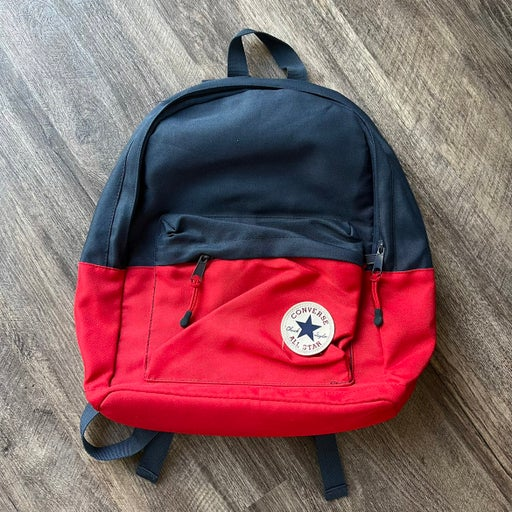 Converse Red and Blue Navy Book Bag Day Backpack with Adjustable Straps