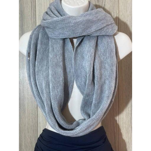 EUC Calvin Klein Woven Grey Infinity Scarf