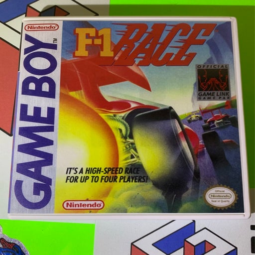 F1 race on GameBoy with custom case