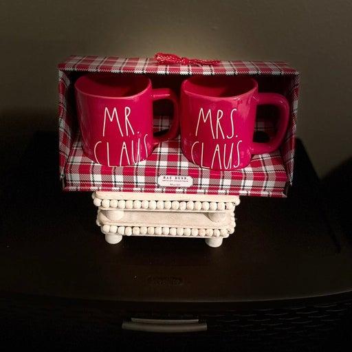 Rae Dunn Mr Claus/Mrs Claus mugs