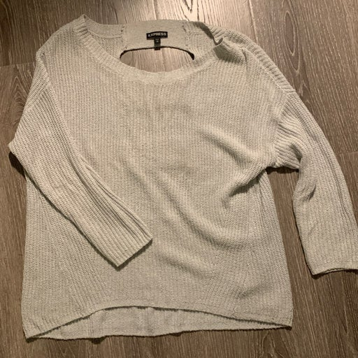 Express Light gray Sweater with cut out