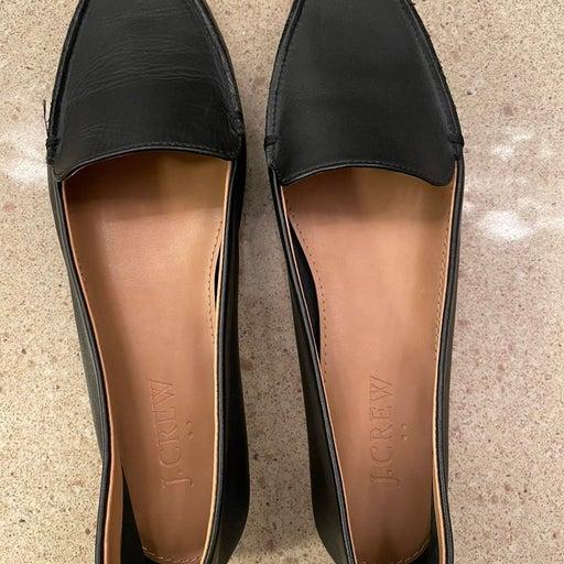JCrew Black Loafers Size 6