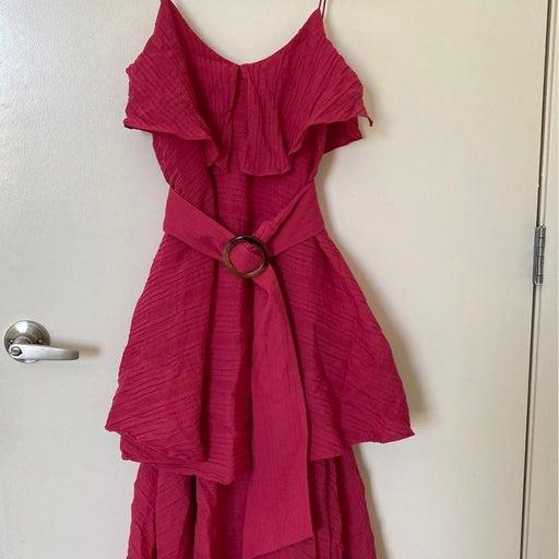 club monaco tie waist dress